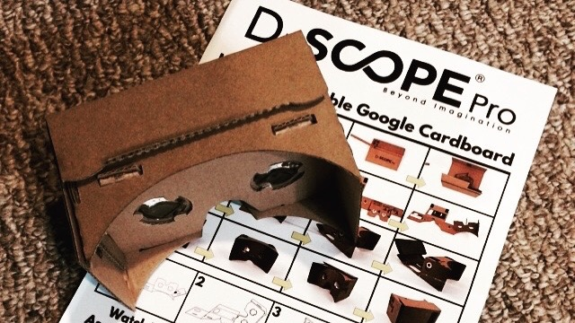 I purchased the Google Cardboard type goggles from D-Scope Pro