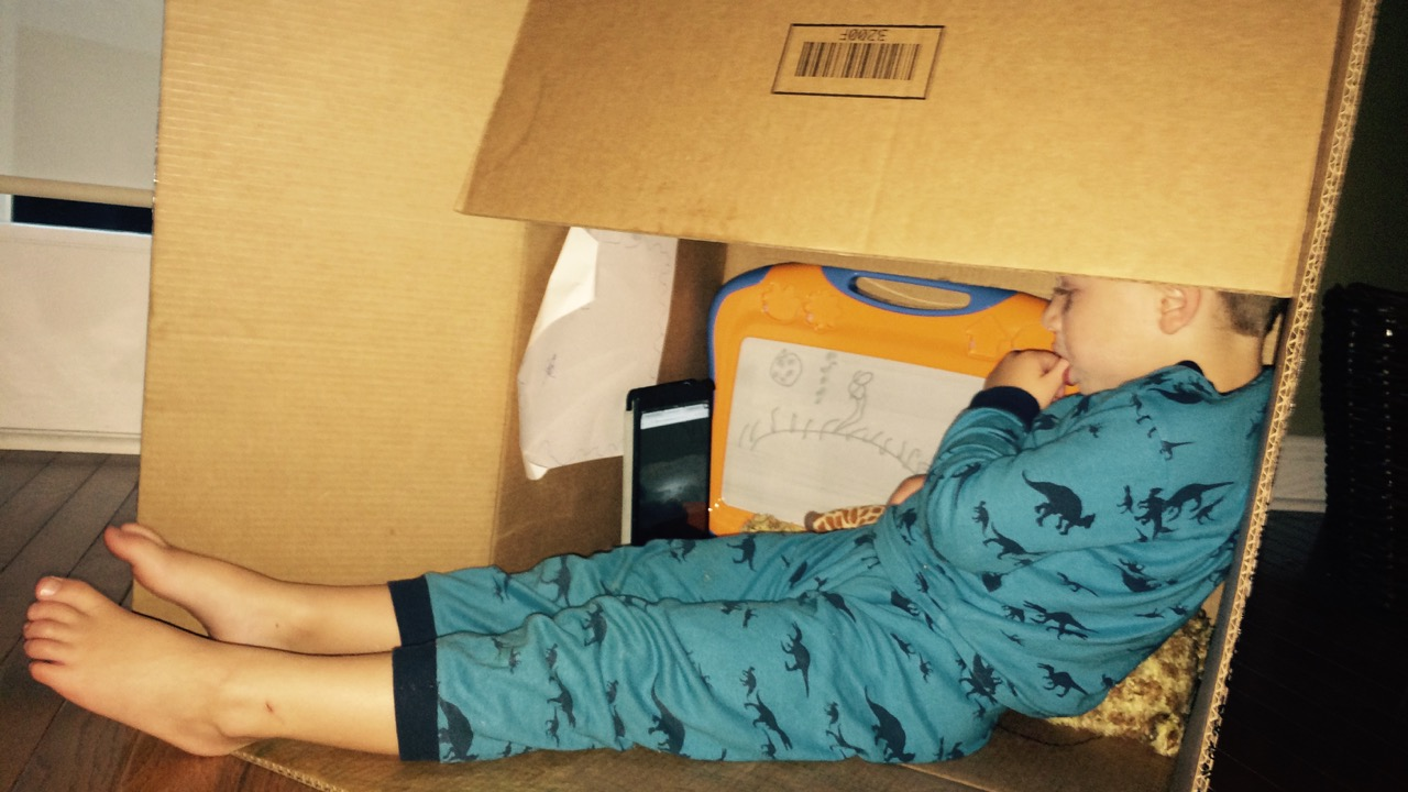 Don't throw away that box! Take it home and see what fun can be had (fun games with boxes)