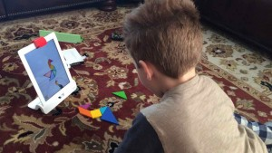 A puzzle solving game is one of the offerings in the OSMO Game System